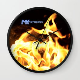 Don't Touch The Flames Wall Clock
