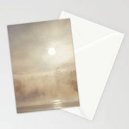 rising mist Stationery Cards