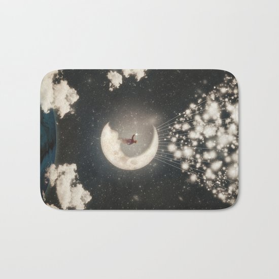 The Big Journey of the Man on the Moon  Bath Mat