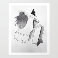 heels Art Prints featuring heels by zahara_art