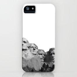 Mount Rushmore National Memorial South Dakota Presidents Faces Graphic Design Illustration iPhone Case