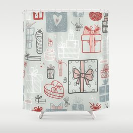 Xmas Gift Boxes Shower Curtain