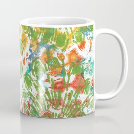 Green Flowers Coffee Mug
