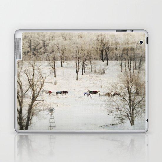 Horses in the Winter Laptop & iPad Skin