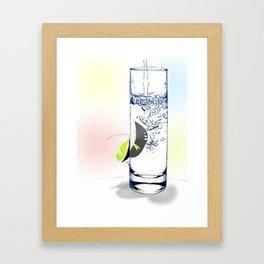 A modest aquarium Framed Art Print