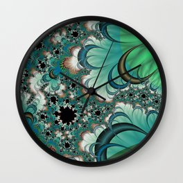 Forest Moons Fractal Wall Clock