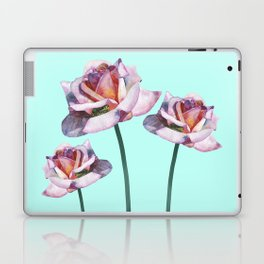 Roses and little frogs Laptop & iPad Skin