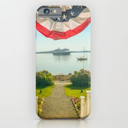Bar Harbor Maine Americana Fourth of July Print iPhone Case