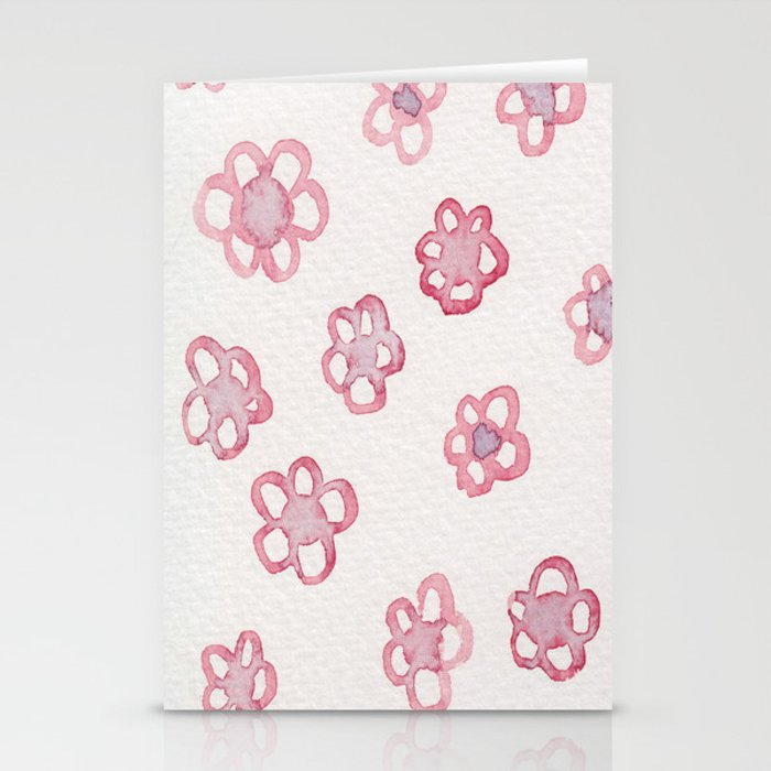 Pink Plums Stationery Cards
