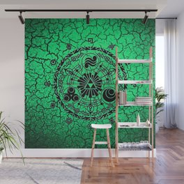 Green Circle Of Triangle Wall Mural