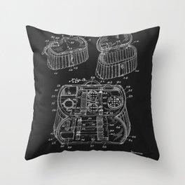 Fishing Creel 1929 Throw Pillow