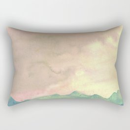 fire in the mountains Rectangular Pillow