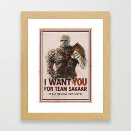 Join The Revolution! Framed Art Print