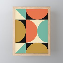 Mid Century Modern Geometric Abstract 235 Framed Mini Art Print