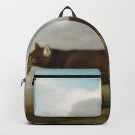 George Stubbs - Portrait of a Large Dog' (Dingo) Backpack
