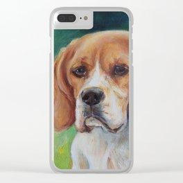 BEAGLE Dog portrait Clear iPhone Case