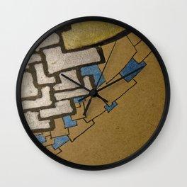 Eiffel tower Paris cube close up original artwork Wall Clock