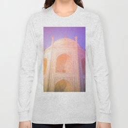 Morning Light Reflexion at Taj Mahal Long Sleeve T-shirt