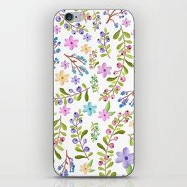 Pastel twigs floral waterolor pattern iPhone Skin