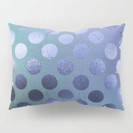 Minimalist Circle Pattern in Iridescent Blue 25 Pillow Sham