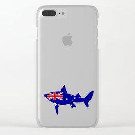 Australian Flag - Shark Clear iPhone Case