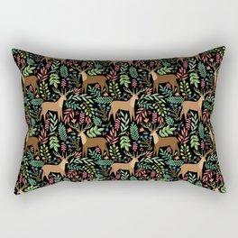 Deer pattern black Rectangular Pillow