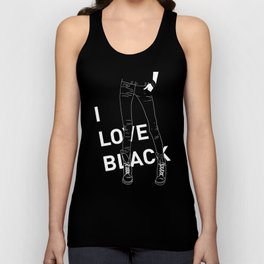 I love black Unisex Tank Top