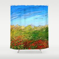 study Shower Curtains featuring Horizon Study by Paul Kimble