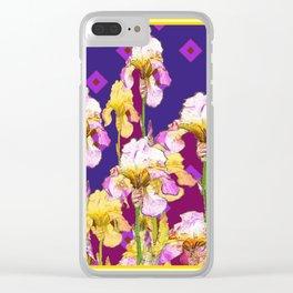 Iris Garden In Shades Of Purple Clear iPhone Case