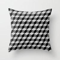 escher Throw Pillows featuring Escher by Adikt