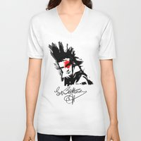 beethoven V-neck T-shirts featuring Beethoven Punk by viva la revolucion