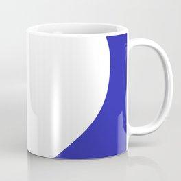 Heart (White & Navy Blue) Coffee Mug