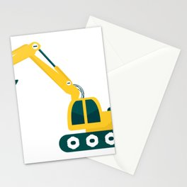excavator Stationery Cards