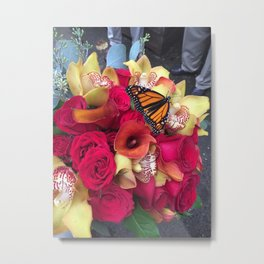 Dianne the Butterfly Metal Print