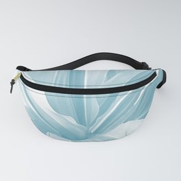 Pale Blue Leaves Movement. nature, soft, decor, art, blue, white, leaves, leaf, society6 Fanny Pack