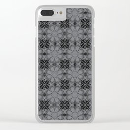 Sharkskin Floral Geometric Clear iPhone Case