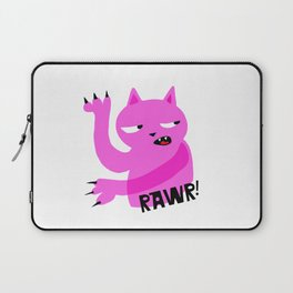 Pink Rawr Cat Laptop Sleeve