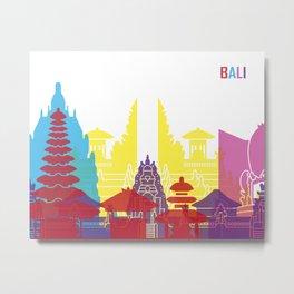 Bali skyline pop Metal Print