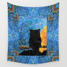 Owl At Peace Wall Tapestry