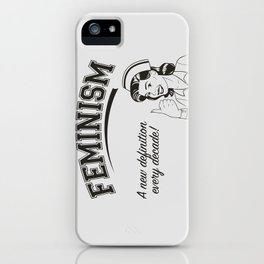 Feminism - New Definition - White iPhone Case