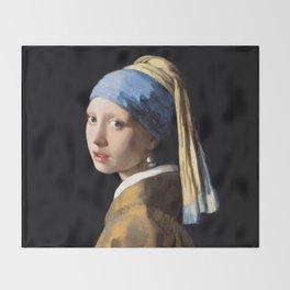 Girl with a Pearl Earring - Jonah Vermeer Throw Blanket