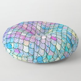mermaid scales Floor Pillow