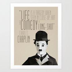 Chaplin Scomposition Art Print