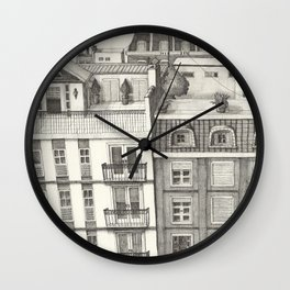 B.A. Roof Top Paradise Wall Clock