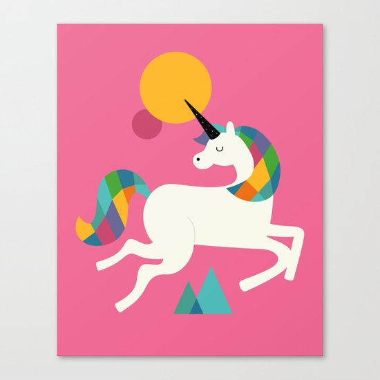 To be a unicorn Canvas Print