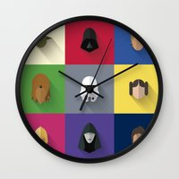 starwars Wall Clocks featuring STARWARS SIMPLE by Randomleafy