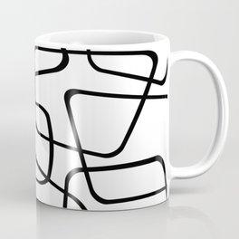 Mid Century Black And White Pattern Coffee Mug