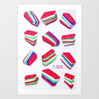 Rainbow Kueh Lapis Art Print