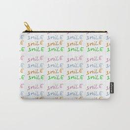 smile2-smile,happy,fun,color,self esteem, good,positive,laugh,pleasure,joy Carry-All Pouch