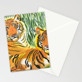Lounging Tigers Stationery Cards